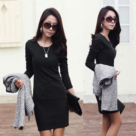 Fashion Women Sexy Mini Dress Long Sleeve Slim Office Lady Pencil Dress Casual | eBay