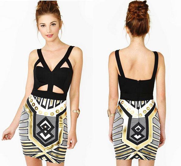 Cleopatra bandage dress