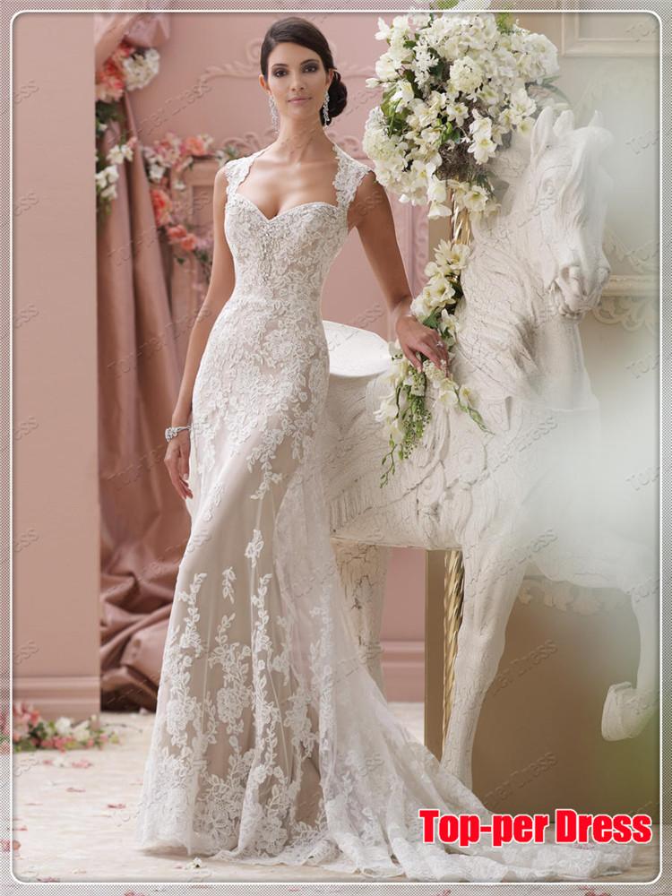 Aliexpress Com Compre Abrir Voltar Barato Casamento Vestido Mermiad Robe De Mariage Beading Noiva Vestido 2015 New Arrival De Confianca Vestido De