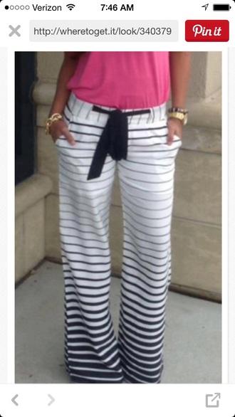 pants sweat pants stripes
