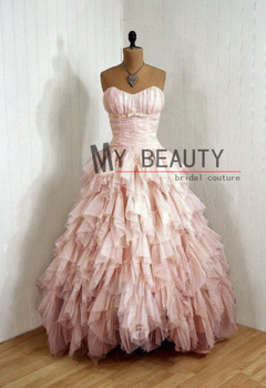Aliexpress.com : Buy Free Shipping 2013 High Low Gown Short Front Long Back Sweetheart Hand Beaded Prom Bubbling Chiffon Cocktail Dress hsc 147 from Reliable dress with suppliers on My Beauty Bridal Couture