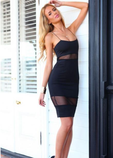 Dress Mesh Dress Mesh Wow Transparent Bodycon ...