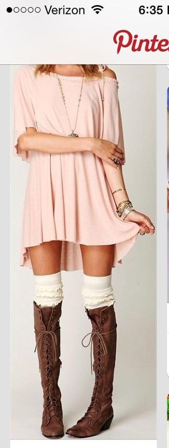 dress pink dress swing dress