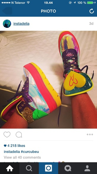 shoes rainbow cool