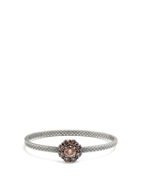 Bottega Veneta silver bracelet silver brown jewels