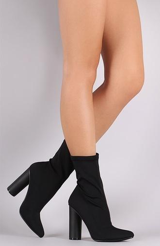 shoes sock boot high heels boots black boots