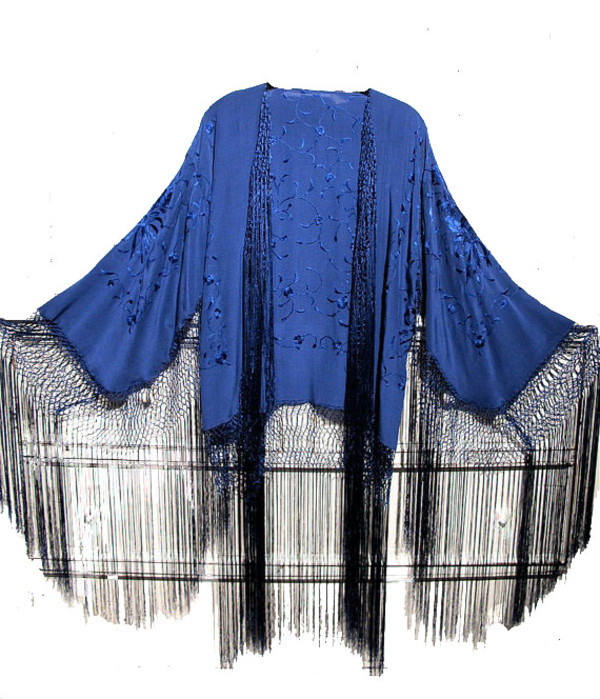 jacket kimono trendy topi fringes topic
