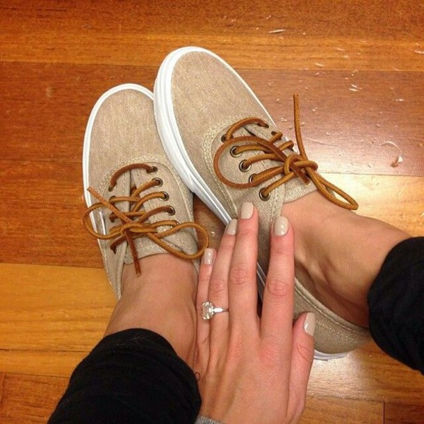 shoes vans nude laces all tan vans with brown laces and white soles beige shoes vans tan