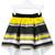 Loredana - striped cascading skirt - kids - Polyester - 10 yrs, Yellow/Orange
