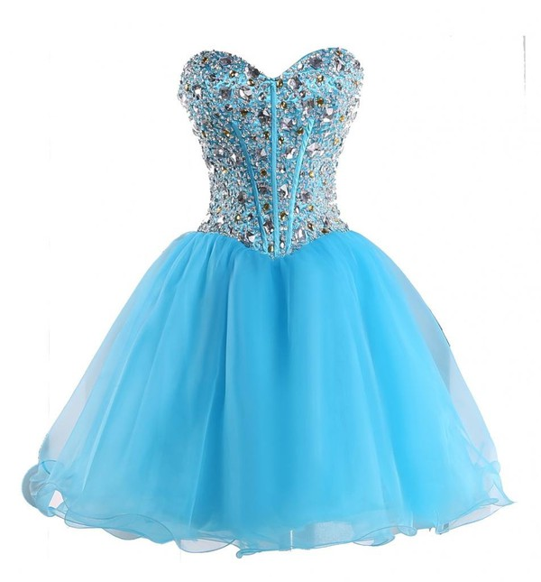 prom dress short dress short party dresses sweetheart dress beading prom dress blue dress homecoming dress prom dress cocktail dress sweet 16 dresses