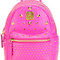 Mcm mini stark special backpack, pink/purple, leather