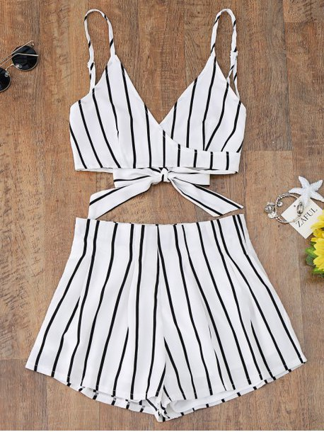 top two-piece stripes