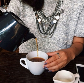 jewels necklace statement necklace statement jewelry ring top style stylish accessories lovely trending dress trendy on point on point clothing blogger cute nails cute necklace cute rings cute ring cute jewelry cute accessories