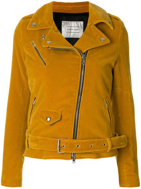 ROUTE DES GARDEN jacket biker jacket women cotton yellow orange