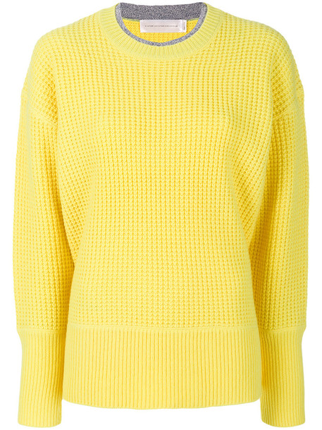 Victoria Victoria Beckham jumper women wool knit yellow orange sweater