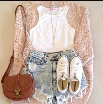 pants jeans cardigan bag tank top