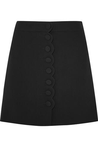 skirt mini skirt mini scalloped black