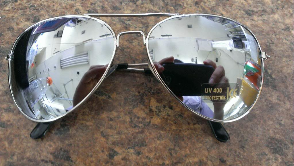 Brand New Aviator Sunglasses Full Silver Mirror Top AV UV 400 Metal | eBay