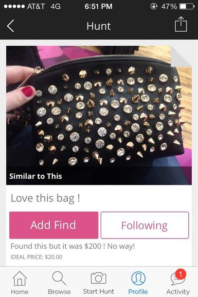 bag handbag studs cute