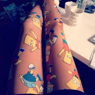 pants the simpsons bart simpson yellow orange pants blue pants blue