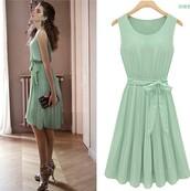 dress,beautiful,summer,prom dress,mint dress