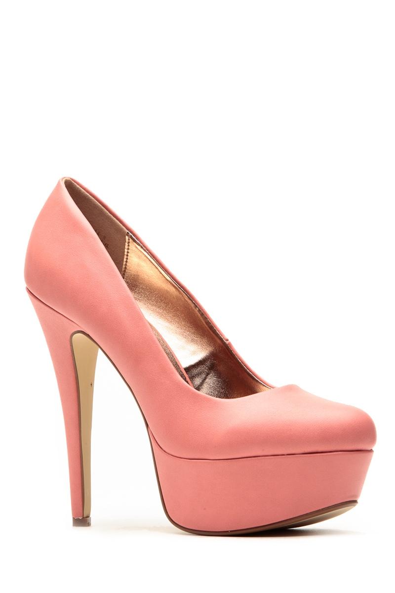 Anne michelle sweet melon almond toe pumps @ cicihot heel shoes online store sales:stiletto heel shoes,high heel pumps,womens high heel shoes,prom shoes,summer shoes,spring shoes,spool heel,womens dress shoes