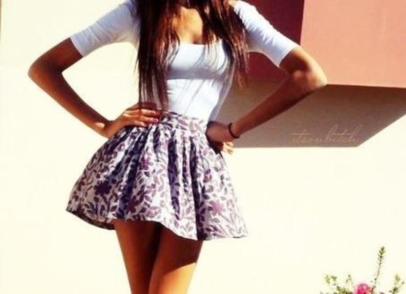 skirt mini skirt floral skirt flowy skirt