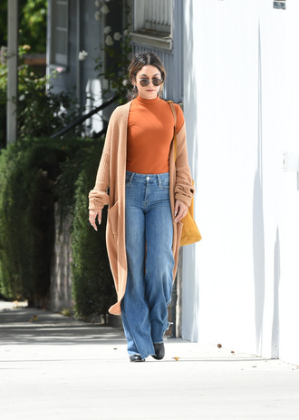 cardigan fall outfits fall colors jeans vanessa hudgens top streetstyle