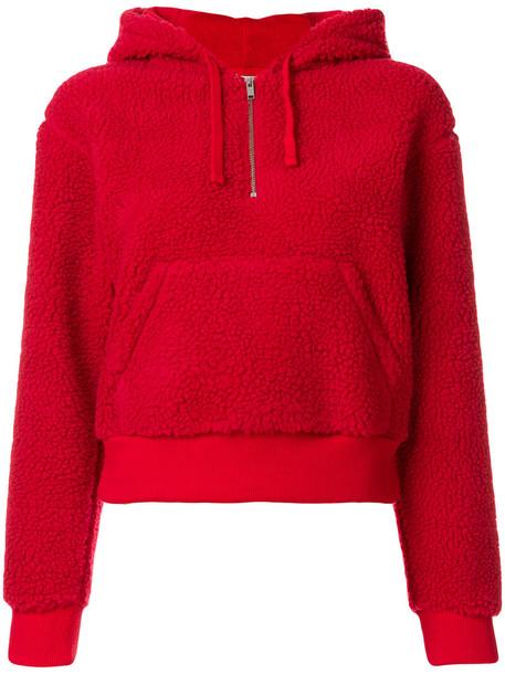 hoodie women cotton red sweater