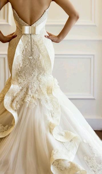 dress wedding dress texture mermaid wedding dress