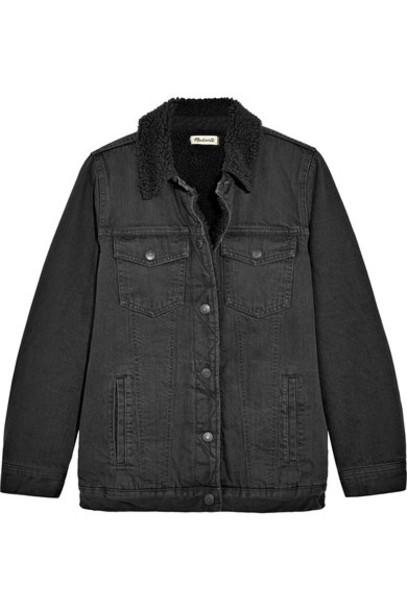 Madewell jacket denim jacket oversized denim jacket denim oversized black