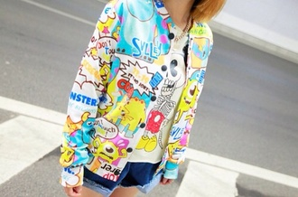jacket colorful monsters monsters university monsters inc mike mike wazowski sully sulley