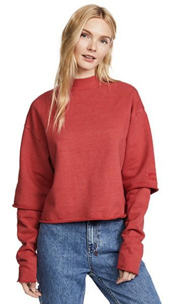 KSUBI sweatshirt red sweater