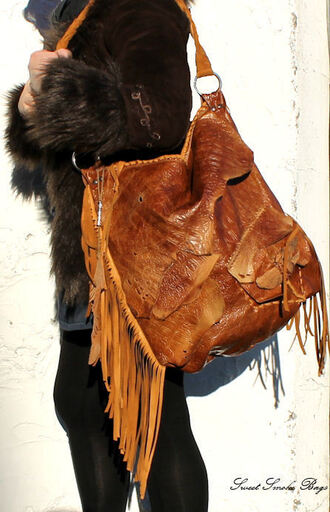 bag fringe leather bag fringed bag fringed leather hobo aztec bag navajo bag gypsy leather bag asymmetrical assymetrical leather fringe leather embossed leather bag hipppie bag festival bag