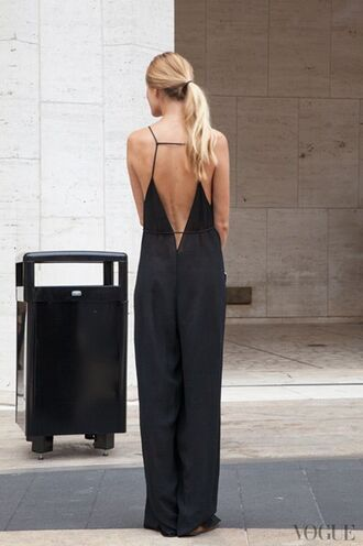 jumpsuit wide leg jumpsuit backless jumpsuit black jumpsuit open back backless date outfit summer outfits