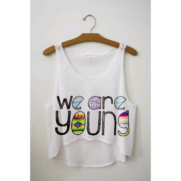 tank top weareyoung crop tops white tank top