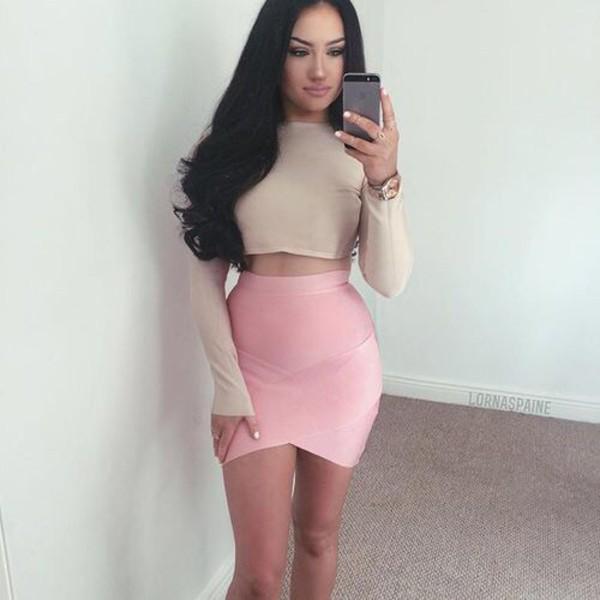 Skirt Pink Tight Skirt Pink Skirt Mini Skirt Body