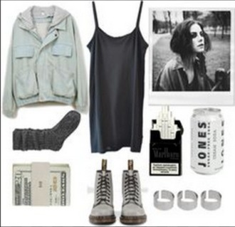 dress effy stonem skins black dress blue jacket denim jacket socks fall outfits grey boots short strappy black cute casual hot