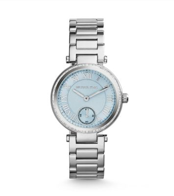 Tone stainless steel bracelet watch