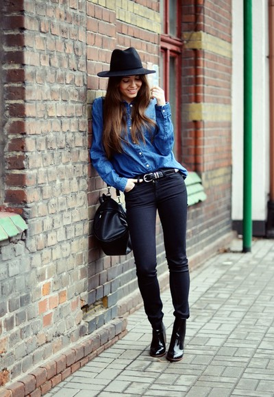 jestem kasia shirt jeans belt hat shoes jewels