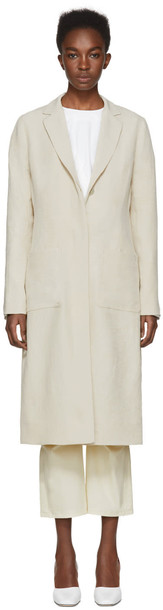 NOMIA coat duster coat back slit beige