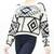 Long sleeve knit tribal aztec print crop sweater tops