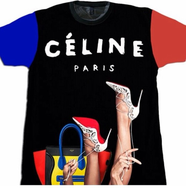 shirt celine paris shirt celine paris colorblock bags and purses red blue black t-shirt