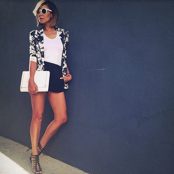 black skirt shoes streetstyle streetwear black and white coat