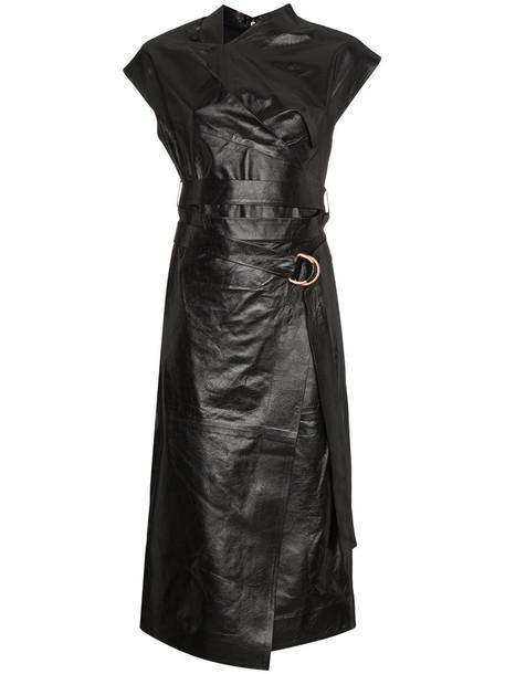 Proenza Schouler dress midi dress women midi leather black