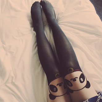 keiko lynn blogger tights animal panda