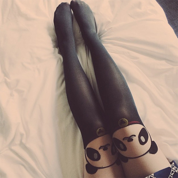 keiko lynn blogger tights animal panda