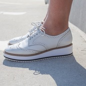 shoes,shellys london,white,oxfords,white oxfords,summer,loafers,summer shoes