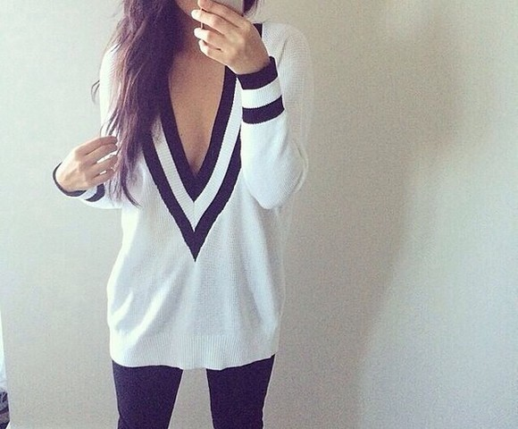 winter outfits white winter sweater black black and white sweater