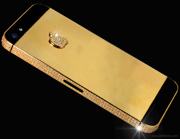 iPhone 5 Case with Gold and Diamonds Surfaces, costs $15.3 Million
